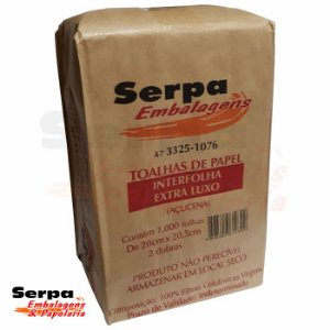 Papel Toalha Interfolha Extra Luxo 20x20,5cm 1000 Folhas - Serpa Embalagens