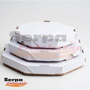 Caixa de Papelão para Pizza, Doces e Salgados - Branca sem Impressão