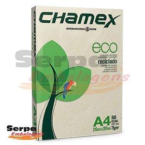 Papel A4 Sulfite 75g Reciclado Chamex - Resma com 500 folhas