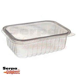 Pote Retangular com Tampa para Freezer e Microondas - BPA FREE - Pacote 24 unidades - PRAFESTA