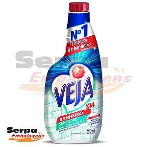 Limpador Veja Banheiro X14 SEM CLORO 500ML REFIL