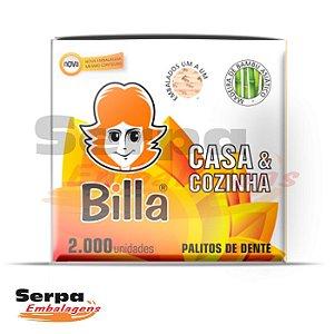 Palitos De Dente Ponta Neutra - Embalados Individualmente - Caixa com 2.000 unidades