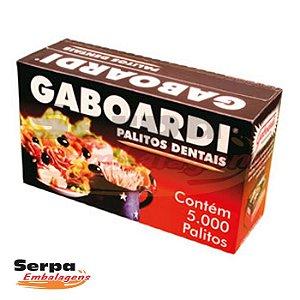 Palito de Dente GABOARDI - Caixa com 5.000 unidades