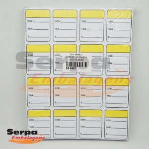 Etiqueta de Papel CC 30 x 38 mm Amarela 150g Cantos Retos com 1.000 unidades