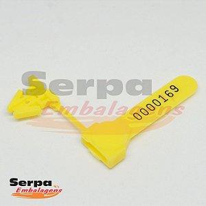 Lacre Plástico Âncora 4,5 cm Amarelo - Pacote com 100 unidades