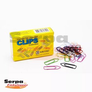 Clips Coloridos 1/0 com 100 unidades BACCHI
