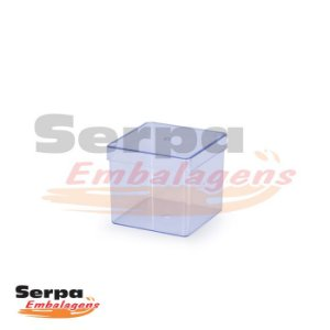 Caixinha Acrílica Quadrada 3 x 3 cm CRISTAL - DREX