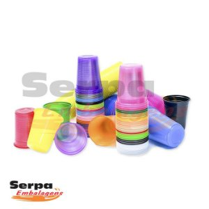 Copos Coloridos 200ml - Tiras com 50 copos