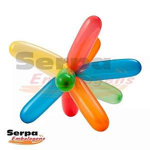 Balão Canudo Sortidas - Fácil Modelagem - Pacote com 50 unidades