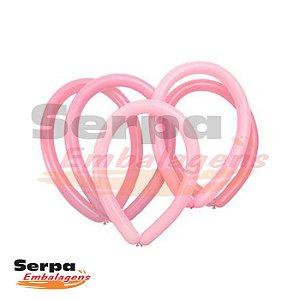 Balão Canudo Rosa - Fácil Modelagem - Pacote com 50 unidades