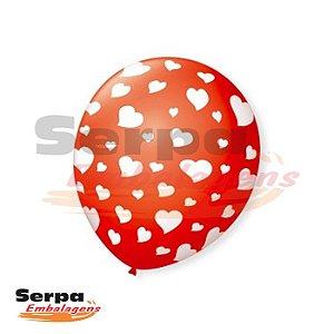 Balão n°10 Coração BIG - Pacote com 25 unidades