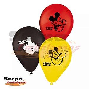 Balão n°9 Mickey Mouse - Pacote com 25 unidades