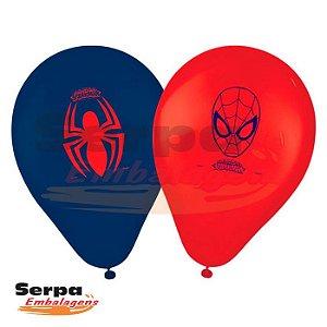 Balão n°9 Homem Aranha - Pacote com 25 unidades