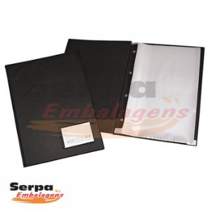 Pasta Catálogo PVC 100 Envelopes Plásticos