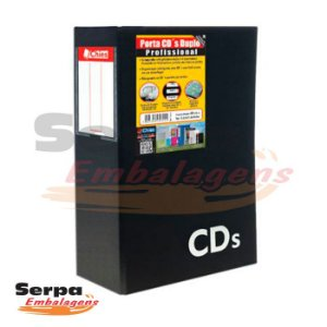 Porta CD duplo 1302 - com 40 refil para 80 CDs - Chies