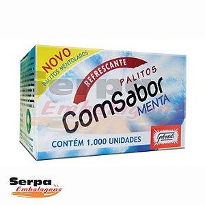 Palitos de Dente Mentolados - Caixa com 1.000 unidades