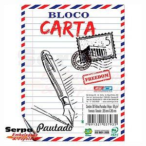 Bloco Carta Pautado com 50 Folhas - 140x200mm - São Domingos