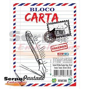 Bloco Carta Pautado com 50 Folhas - 205x265mm