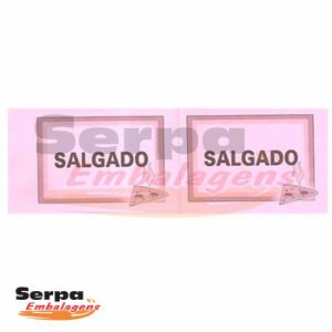 Ticket de Salgado com 100 unidades - 152x53mm