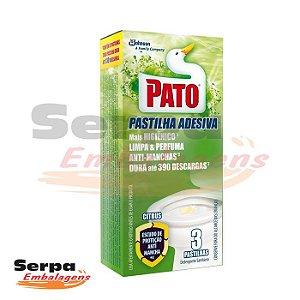 Desodorizador Pastilha Adesiva CITRUS C/3