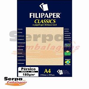 Papel A4 Pérsico Marfim 180g - Pacote com 50 unidades