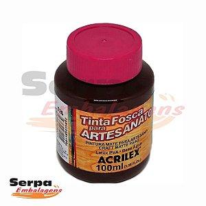Tinta Fosca para Artesanato 100ml - MARROM ESCURO