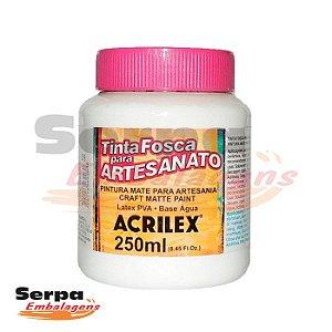 Tinta Fosca para Artesanato 250ml - BRANCO