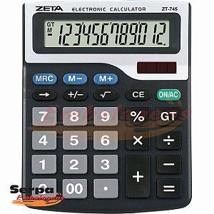 Calculadora de Mesa 12 Dígitos Visor Grande