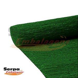 Papel Crepom Encerado Verde Bandeira 48cm x 2m