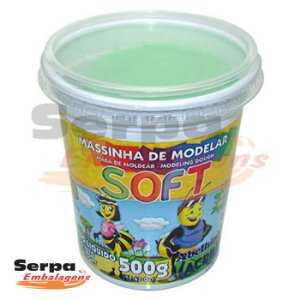 Massinha de Modelar Soft - 500gr Verde