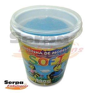 Massinha de Modelar Soft - 500gr Azul Cobalto