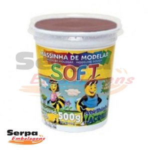 Massinha de Modelar Soft - 500gr Chocolate
