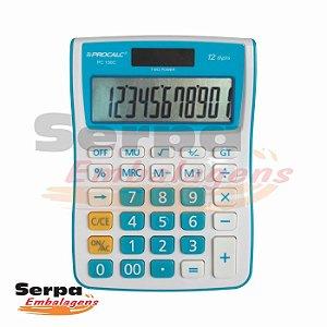 Calculadora de Mesa Azul com 12 dígitos