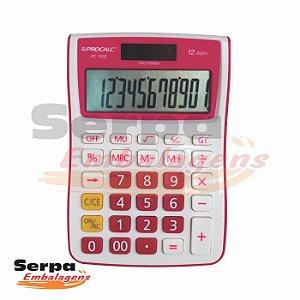 Calculadora de Mesa Rosa com 12 dígitos