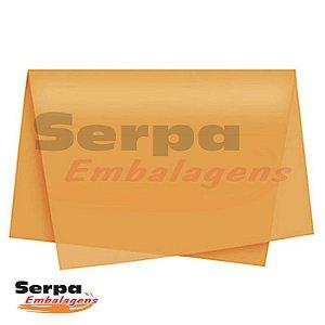 Papel Seda Laranja 48x60 cm - Pacote com 100 unidades