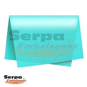 Papel Seda Azul Tiffany 48x60 cm - Pacote com 100 unidades