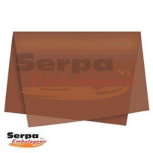 Papel Seda Marrom 48x60 cm - Pacote com 100 unidades