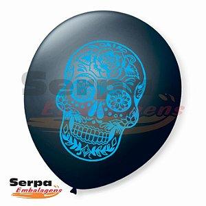 Balão n°9 Dia de Los Muertos - Pacote com 25 unidades