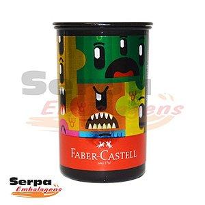 Apontador com Depósito Monster Puzzle Tubo - Faber-Castell
