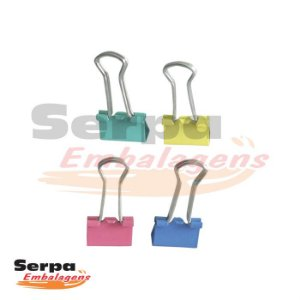Prendedor Metal Binder Colors 19mm