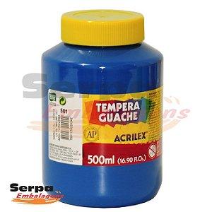 Tinta Guache 500ml Azul Turquesa