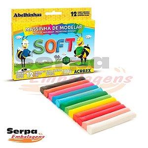 MASSINHA DE MODELAR SOFT - Caixa com 12 unidades