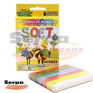 MASSINHA DE MODELAR SOFT - Caixa com 6 unidades
