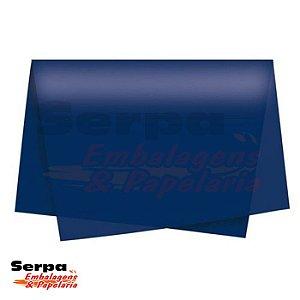 Papel Seda Azul Escuro 48x60 cm - Pacote com 100 unidades