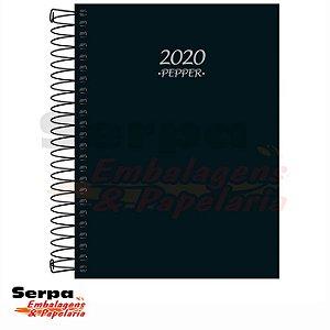 Agenda 2020 Pepper Espiral Preta M4 Tilibra