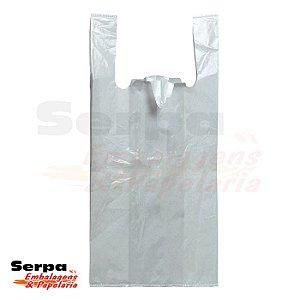 Sacola de Plástico com Alça Camiseta Branca - Fardo com 1 Quilo