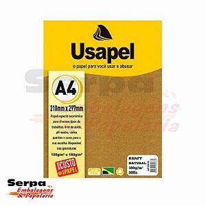 Papel A4 KRAFT - Usapel Natural 180G - Pacote com 50 Folhas