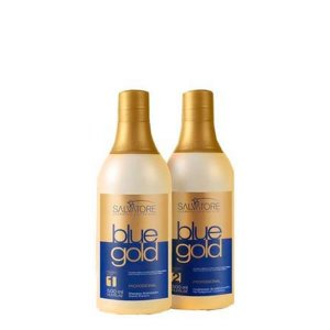 Salvatore Escova Progressiva Blue Gold 2x500ml
