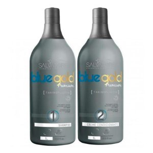 Salvatore Escova Progressiva Blue Gold Premium Sem formol 2X1000- Fab Salvatore Cosmeticos