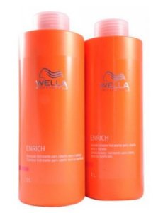 Wella Professionals Enrich Combo Shampoo e Condicionador 1000ml-Fab Wella Cosméticos